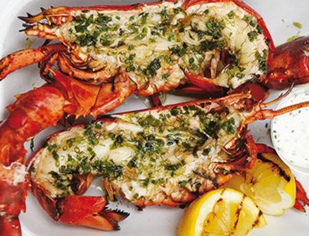 Recettes homards des minquiers - Queues de langoustes grillees au four ...